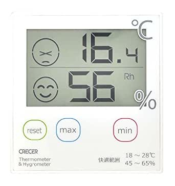 クレセル デジタル温湿度計 白 CR-1000W