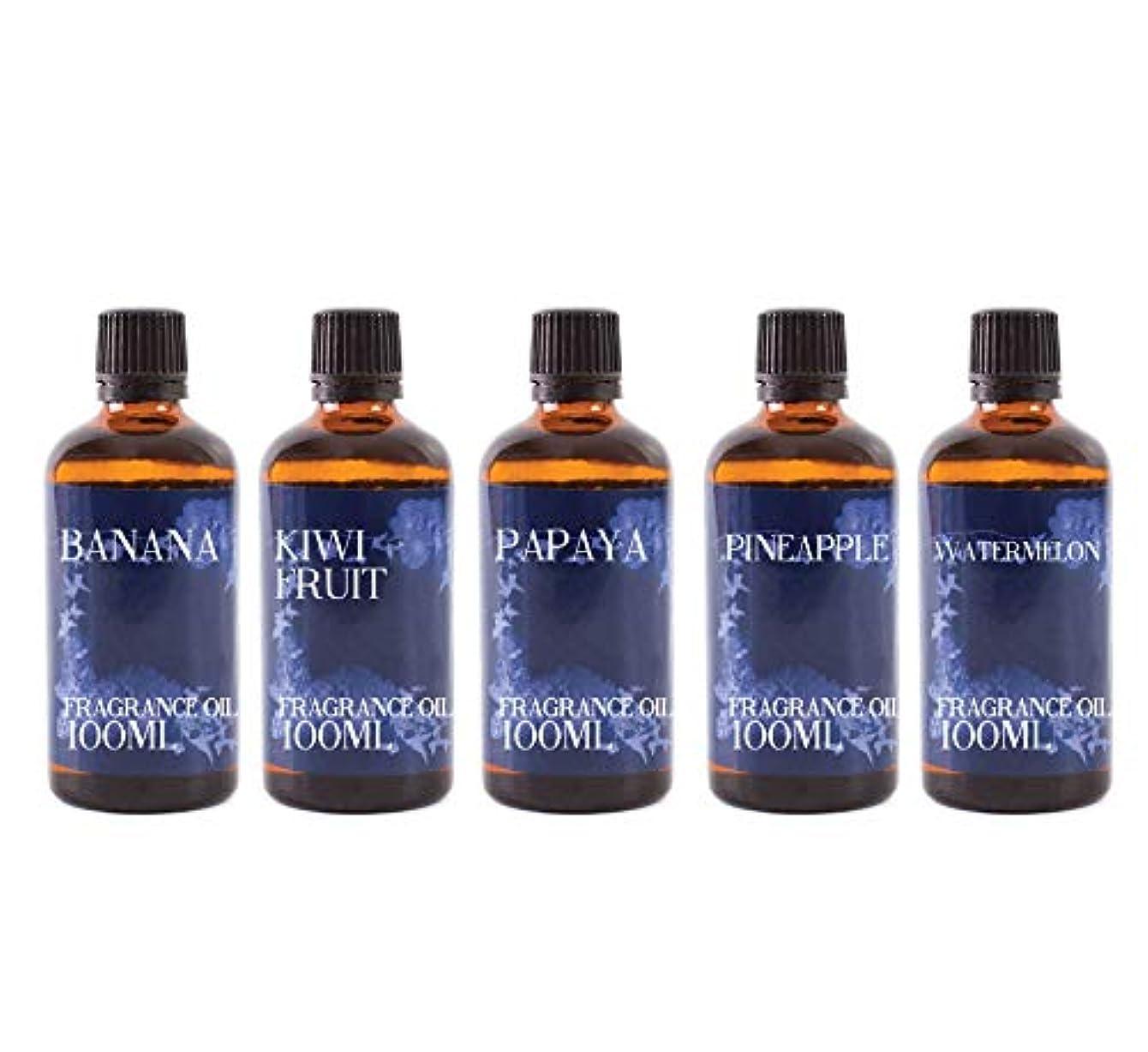 要求ベッドを作るパイルMystic Moments | Gift Starter Pack of 5 x 100ml - Exotic Fruit - Fragrant Oil
