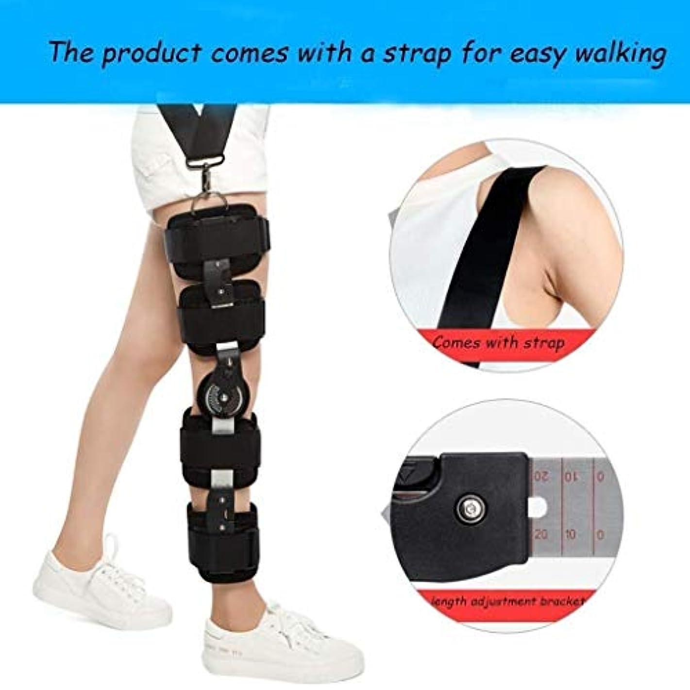 バウンスブランチ内向きヒンジ付き膝装具-怪我、治療、サポート、痛みの軽減のための調節可能な靭帯サポート