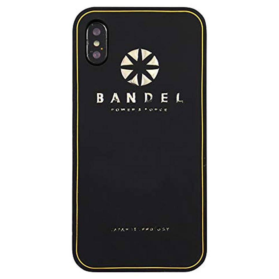 セブン安全性セイはさておきバンデル iPhone X ケース メタリック ロゴ ブラック×ゴールド BANDEL アイフォン 10