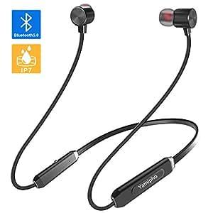 Amazon.co.jp: 「Bluetooth5.0 IPX7完全防水」Bluetooth イヤホン スポーツ ...