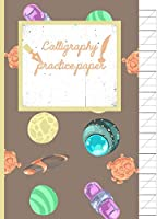 Calligraphy Practice paper: Gifts for space lovers; cute & elegant Hurricane Space UFO hand writing workbook with practice sheets for adults & kids to write in.
