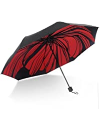 レッドOriginalityパラソルブラック傘スーパーストロング日焼け保護雨傘
