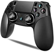 【2020年最新 アマゾン通販】 PS4用 コントローラー MAXKU 無線 最新バージョン Bluetooth リンク遅延なし HD デュアルバイブレーション LED耐久ボタン ヘッドフォンジャック スピーカー PS3