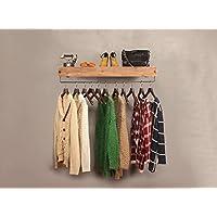 浮遊式棚 コートラックレトロ鉄配管プレート衣類ラックハンギングスタンド衣類ラックハンギングハンガー 工業用壁フレーム (サイズ さいず : 60 cm 60 cm)