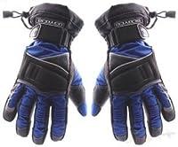 SCOYCO バイク・自転車用 高級 防寒セーフティー手袋・グローブ  サイズ(M) 色:青(120-0013-02)