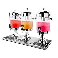 ステンレススチールビールディスペンサー、ビールタワードリンククーラー、蛇口とつらら、ジュースコーヒーミルク冷却用,24L