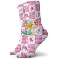 Comfortable Cotton Girl Sports Socks, Mermaid Print
