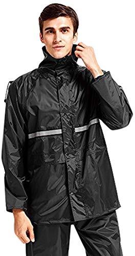 WARMQ レインウェア 通湿性 着脱式合羽 レインスーツ 快適 二重構造帽子 防水レインコート 上...