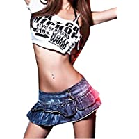 Womens Fashion Low Waist Sexy Nightclub Party Mini Skirt Costumes