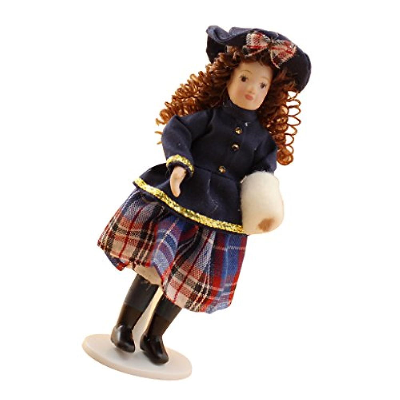 Lovoski ドールハウス ミニチュア 1/12スケール人形 少女人形 モデル 飾り物