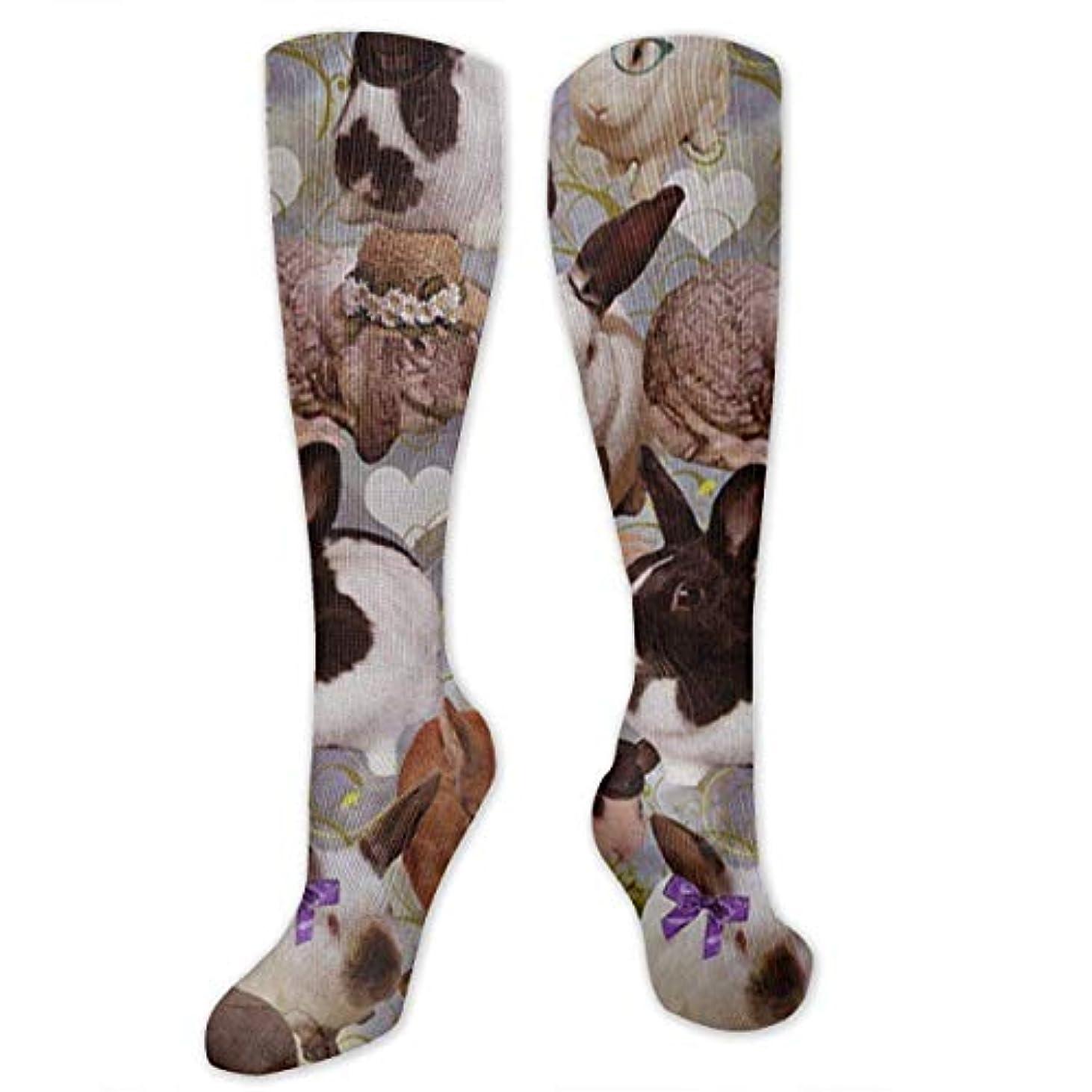 クラッチ申請中強制靴下,ストッキング,野生のジョーカー,実際,秋の本質,冬必須,サマーウェア&RBXAA Happy Bunnies Socks Women's Winter Cotton Long Tube Socks Cotton Solid...
