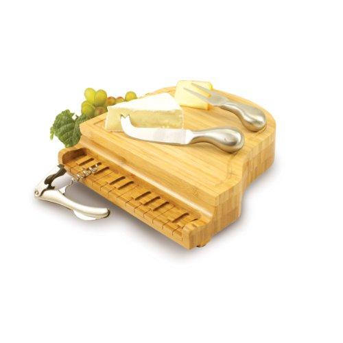 ピアノのシルエットが素敵なチーズボード / チーズナイフセット付