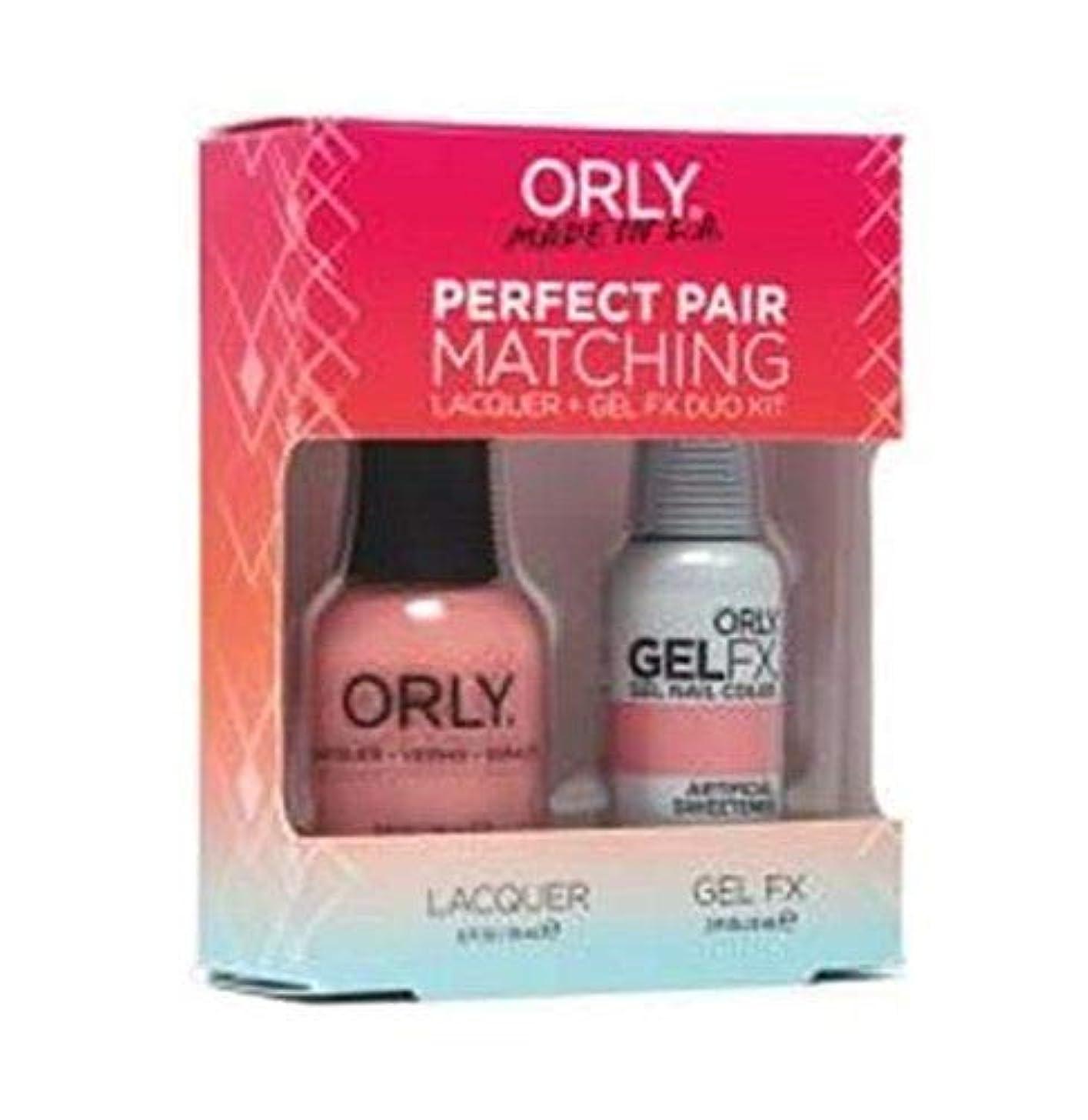 れる反映するレンズOrly - Perfect Pair Matching Lacquer+Gel FX Kit - Artificial Sweetener - 0.6 oz / 0.3 oz