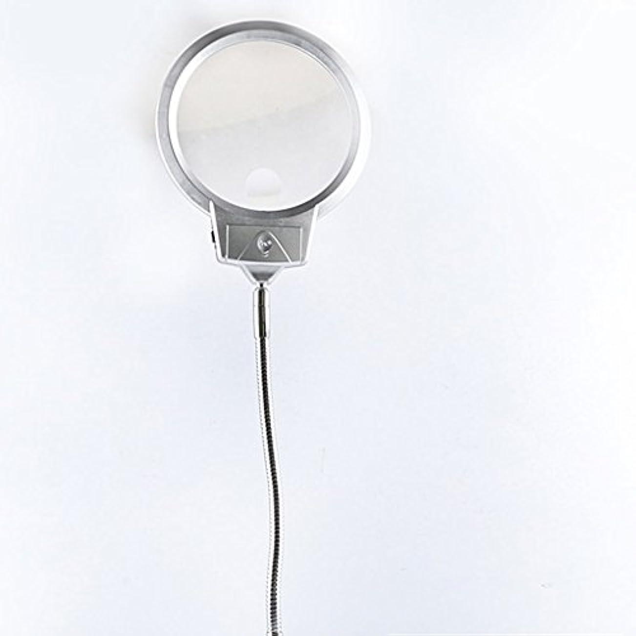 拡大鏡 LEDライト付き高倍率デスクトップ10倍HD 20倍高齢者は電話修理を読む