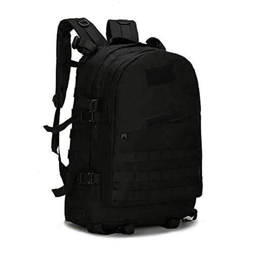 [RSWHYY] メンズ リュックサック 登山リュック カバン 鞄 バックパック 男女兼用 バッグ アウトドア 防水 春夏 迷彩  タクティカル スポーツ ブラック