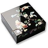 ジュエリーボックス 小箱 螺鈿の宝石箱 茶花にヒクイドリ 漆器 アクセサリーケース