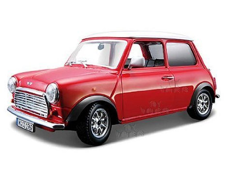 BBurago - Mini Cooper (ミニクーパー) Hard Top (1969, 1:24, Red) ミニカー ダイキャスト 車 自動車 ミニチュア 模型 (並行輸入)