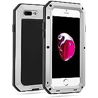 Yarrashop iPhone 7Plus ケース iPhone 8 plus ケース 耐衝撃 防塵 生活防水 シルバー