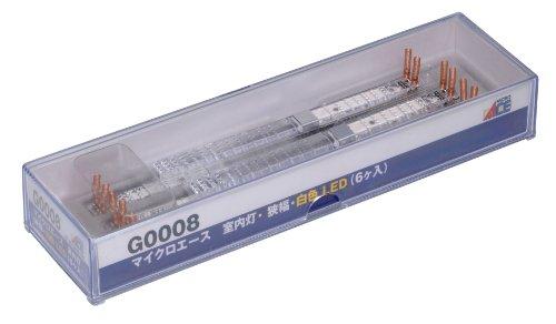 Nゲージ G0008 室内灯・狭幅・白色LED 6個入り