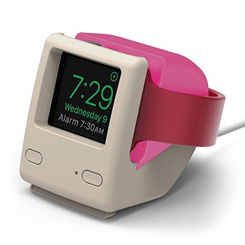 elago Apple Watch スタンド W4 STAND series2 / series1 42mm / 38mm 対応 シリコン製 レトロデザイン 充電 スタンド [ アップルウォッチ 各種対応 ] アクアピンク