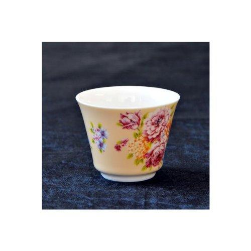 茶杯 花布柄 ベージュ