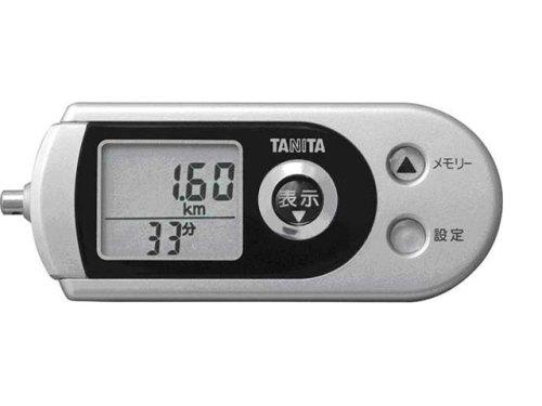 タニタ 3Dセンサー搭載歩数計 防犯ブザー付 FB722 シルバー 1台