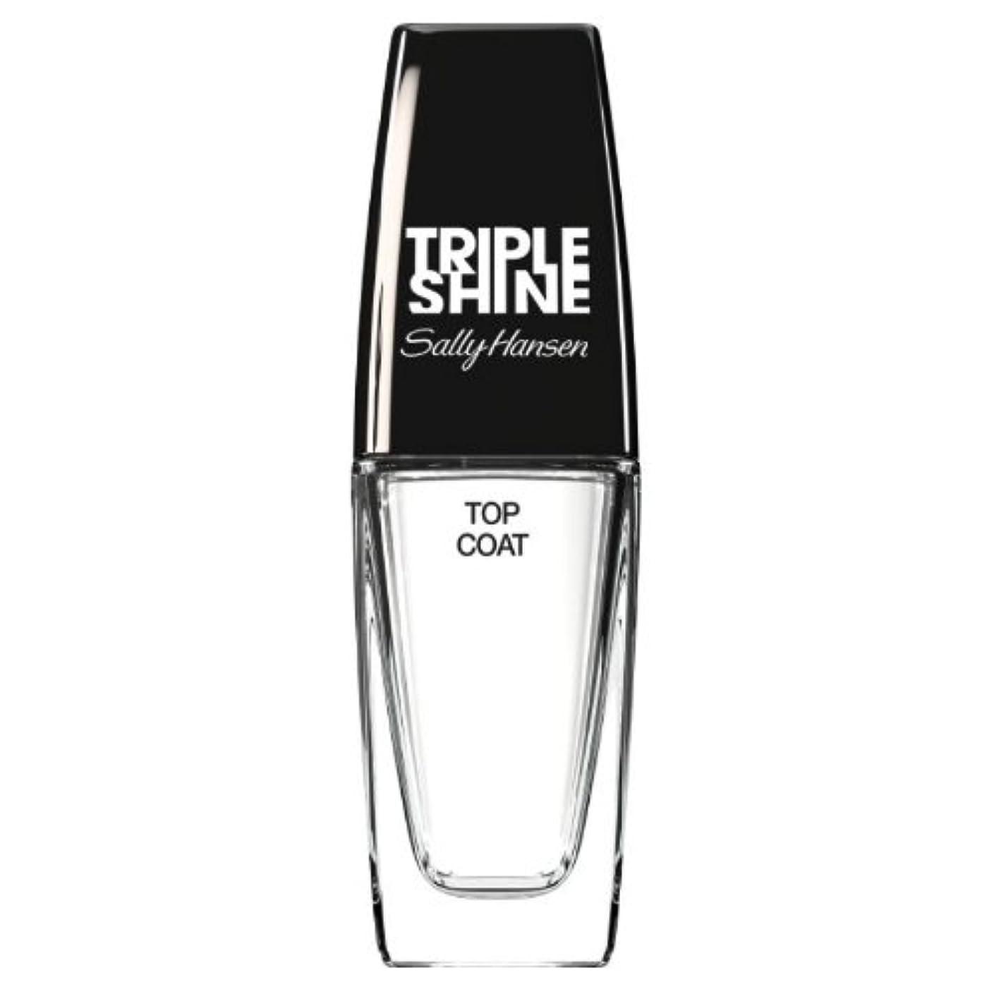 粘り強いシアー廊下(3 Pack) SALLY HANSEN Triple Shine Top Coat - Triple Shine Top Coat (並行輸入品)