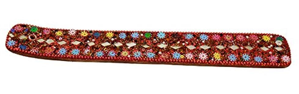 移住する暴徒尾クリスマスHoliday Gifts手彫り木製お香スティックLacビーズGlitter作業