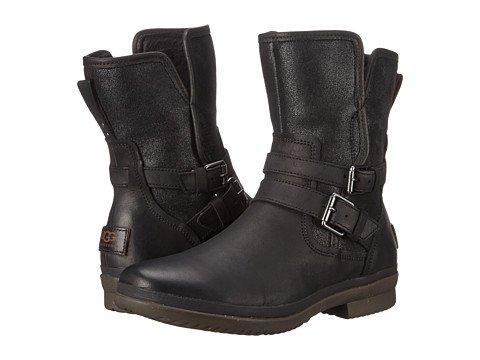 (アグ)UGG レディース・エンジニアブーツ・靴 Simmens Black Leather 11 28.5cm B - Medium [並行輸入品]