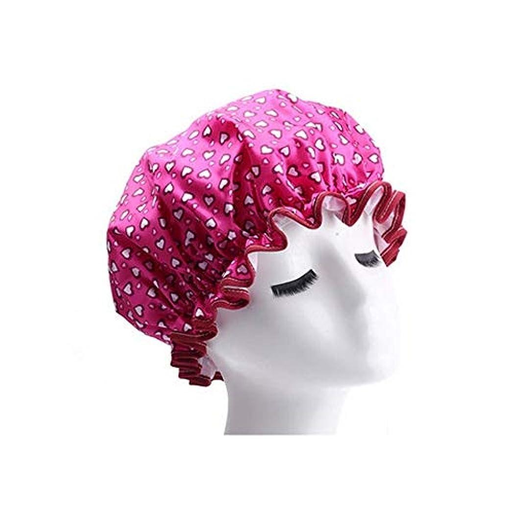 コショウストライプ半径DKX シャワーキャップ、女性のすべての髪の長さと厚さに適しレディースシャワーキャップデラックスシャワーキャップ - 防水やカビ耐性、再利用可能なシャワー。 髪のタイムリーな保護 (Color : 2)