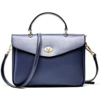Handbags - Leather Female Bag Ladies Handbag Temperament Minimalist Fashion Briefcase Shoulder Bag