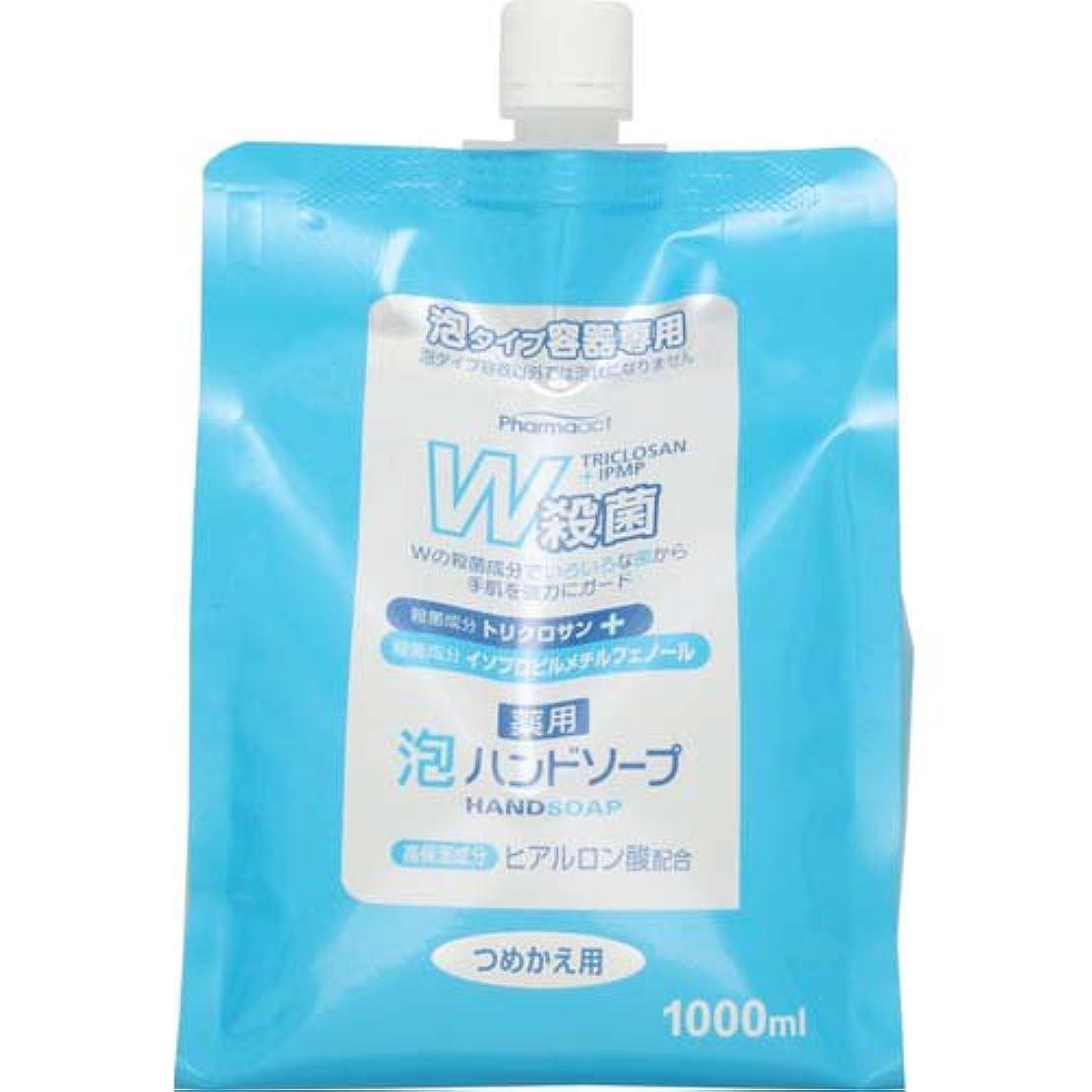 ホールドパイプライン綺麗なファーマアクト W殺菌薬用泡ハンドソープ スパウト付き詰替 1000ml