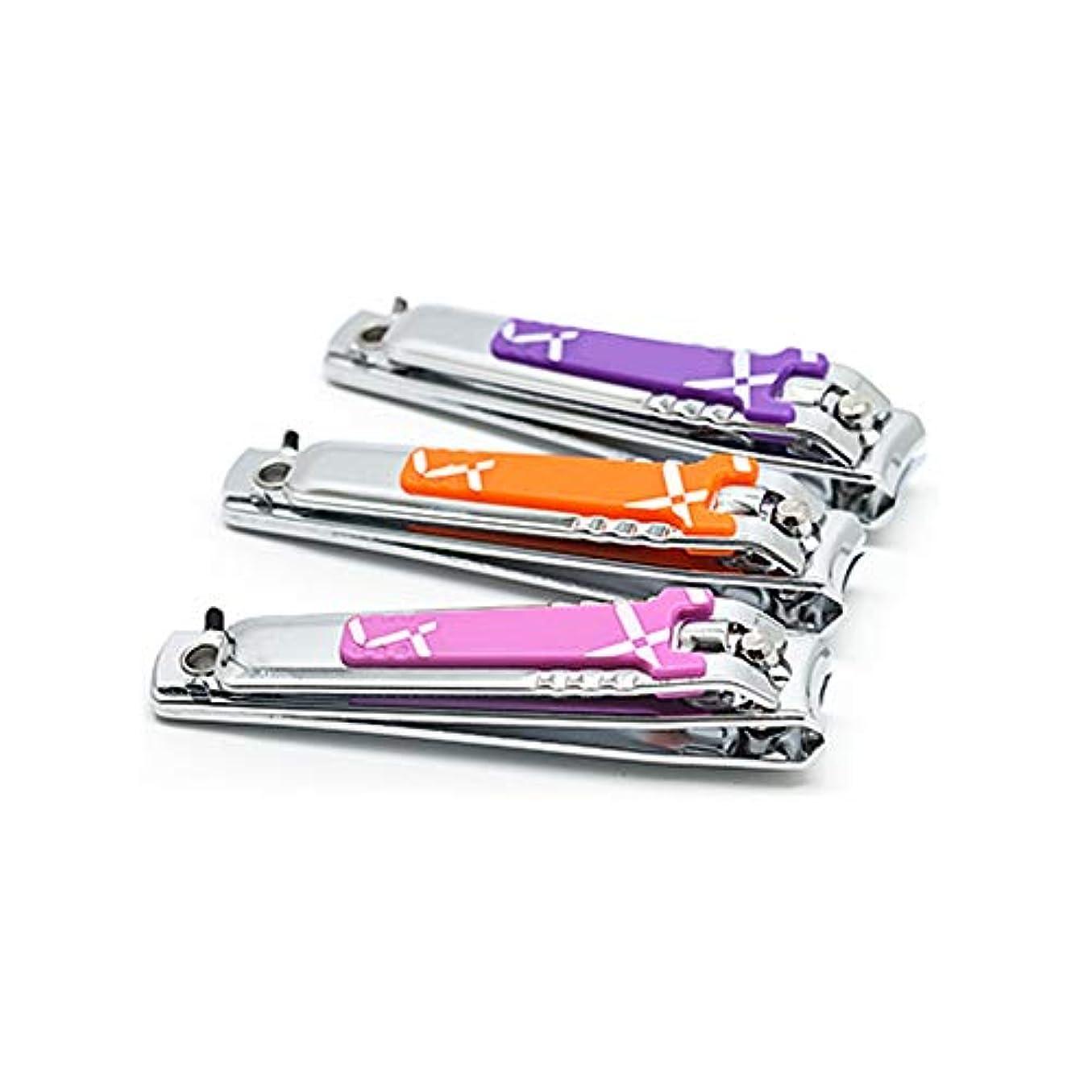 リッチショットねばねばステンレス爪切り携帯便利男女兼用 爪切りセット、ランダムな色