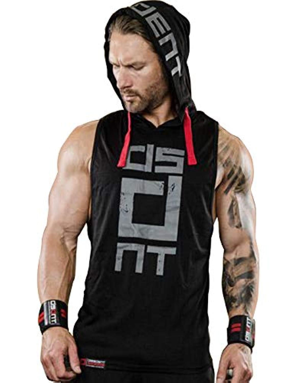アキル(Arkkil) タンクトップ メンズ トレーニング ノースリーブ フード付き ベスト ジム用 筋トレ ウェア 袖なし 男性 おしゃれ ボディビル スポーツ カッコイイ