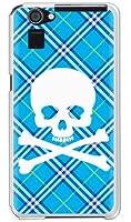 SECOND SKIN スカルパンク ブルー (ソフトTPUクリア) / for AQUOS PHONE SERIE SHL23/au ASHL23-TPCL-701-J096