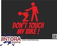 JINTORA ステッカー/カーステッカー - Don't touch my bike! - 私の自転車に触れないでください! - 99x99 mm - JDM/Die cut - 車/ウィンドウ/ラップトップ/ウィンドウ - 赤