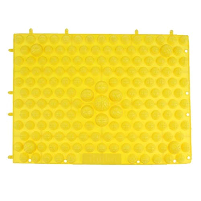 FLAMEER フットマッサージ マット 足ケア マッサージャー パッド 圧力プレート 多色選べ - 黄