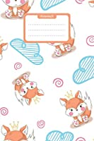 Notenheft: Groesse ca. Din A5 I 100 Seiten I 12 Notensysteme pro Seite I ideal fuer den Musikunterricht oder zum Ueben von Noten I Design mit einem niedlichen Fuchs