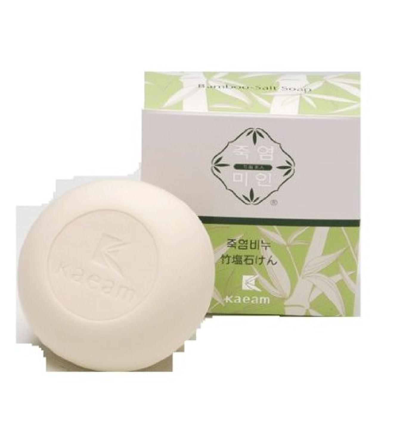拒絶する人工アグネスグレイ洗顔せっけん 商品 竹塩石鹸 3個入り 開岩 Kaeam Bamboo Salt Soap