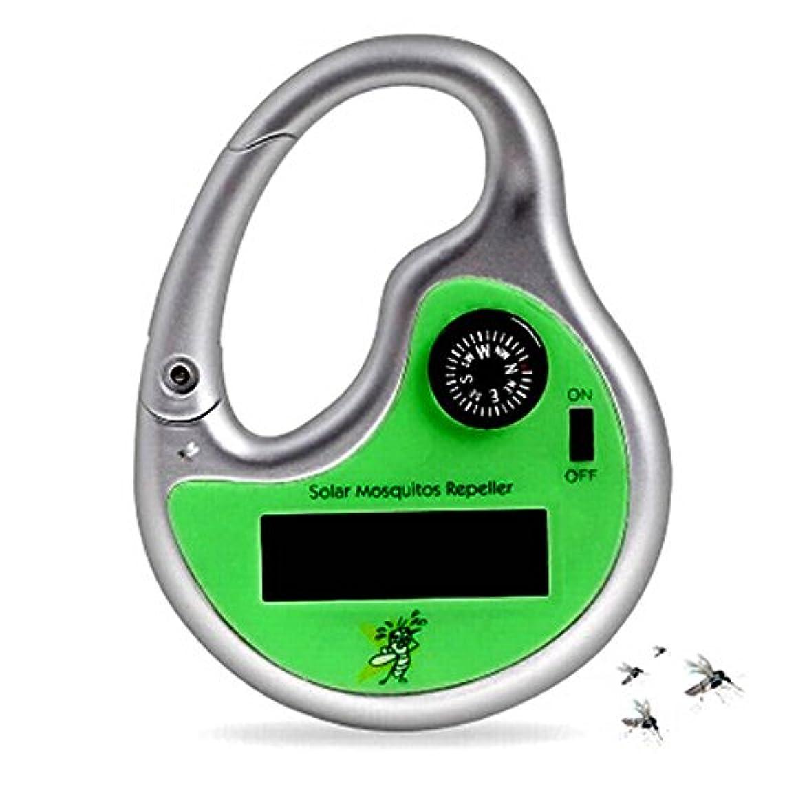 水典型的な失望させるPlutoury 蚊取り器 ソーラー式 モバイルポータブル 20ー50平方メートル有効 超音波害虫駆除器 羅針盤機能付き 蚊除け アウトドア用