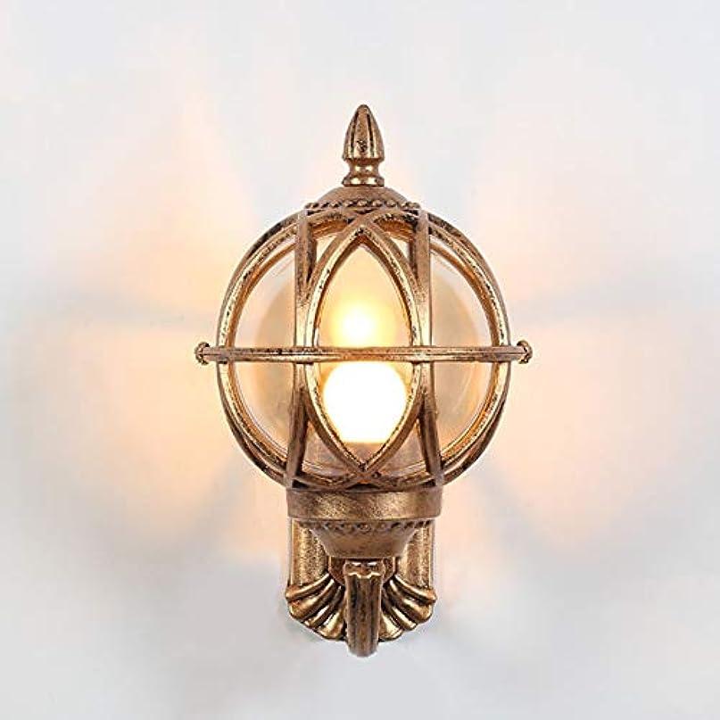 おそらく種類まで外壁ランプヨーロッパ防水中庭戸口通路通路ライト屋外ヴィラバルコニー屋外ledレトロウォールランプ 照明器具 (色 : ゴールド, サイズ : M)