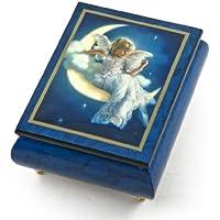 EnchantingブルーErcolano Painted音楽ボックスTitled