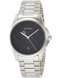 [グッチ]GUCCI 腕時計 Gタイムレス ブラック文字盤 YA126460 メンズ 【並行輸入品】