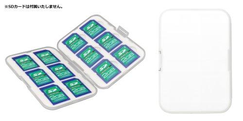 [ゆうパケット164円発送選択可]グリーンハウス SDカード12枚収納ハードケース GH-CA-SD12W『即納~2営業日後の発送』SDHCカードケース12枚入り