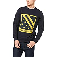 CALVIN KLEIN Jeans Men's Big Chest Badge Crew Neck Sweatshirt