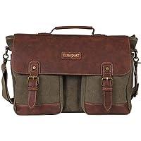 b01ed3cd2b1f Eurosport Canvas Extra Large Messenger Bag Olive B913 Pockets Storage Laptop
