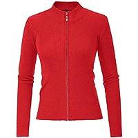 CURLBIUTY Women Knit Zipper Sweater Casual Cardigan Long Sleeve Sweater Tops