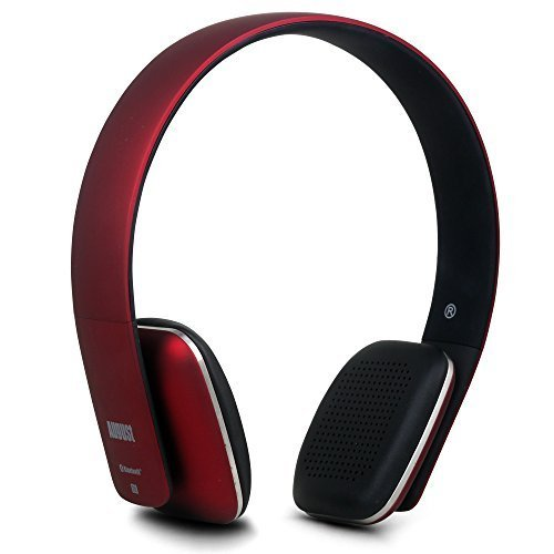August EP636 ワイヤレスヘッドホン Bluetooth&NFC&マイク搭載 ハンズフリー通話可 音楽再生 (レッド)