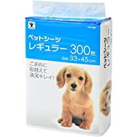 【Amazon.co.jp限定】 山善 1回使い捨て 薄型ペットシーツ レギュラー 300枚入